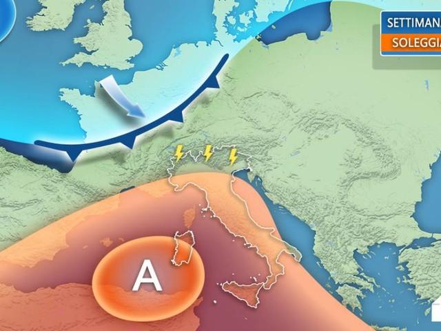 Meteo Italia: settimana di Ferragosto con sole e caldo, temporali al Nord dal 19