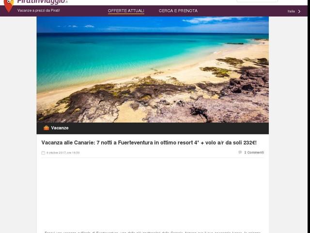 Vacanza alle Canarie: 7 notti a Fuerteventura in ottimo resort 4* + volo a/r da soli 232€!