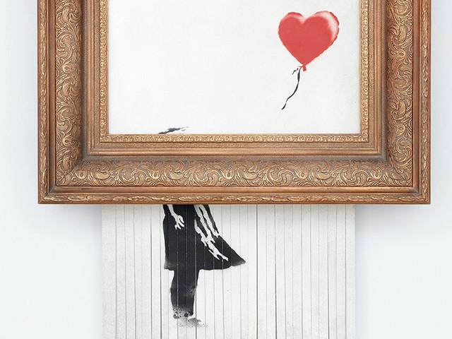 Girl with Balloon distrutta all'asta da Banksy andrà in mostra in Germania