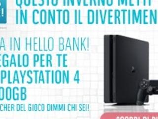 """Hello Bank! regala una Playstation 4 Slim da 500GB + il gioco """"Dimmi chi 6"""""""