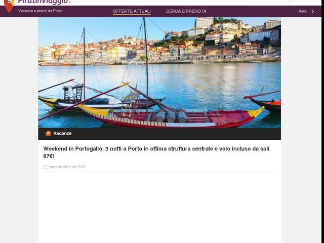 Weekend in Portogallo: 3 notti a Porto in ottima struttura centrale e volo incluso da soli 67€!