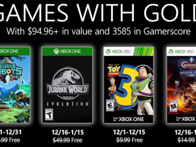 Microsoft svela i Games With Gold di dicembre 2019