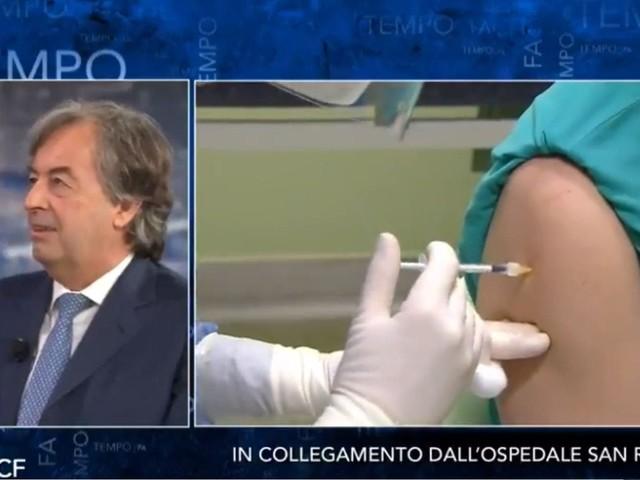 Che tempo che fa, vaccinazione anti-Covid in diretta. Fazio: «L'abbiamo fatto per i no vax» – Video