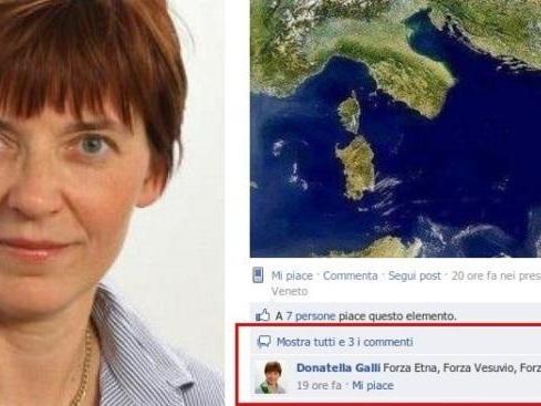 La leghista scrisse «Forza Vesuvio» su Fb, assolta perché il post era «intriso di ignoranza»