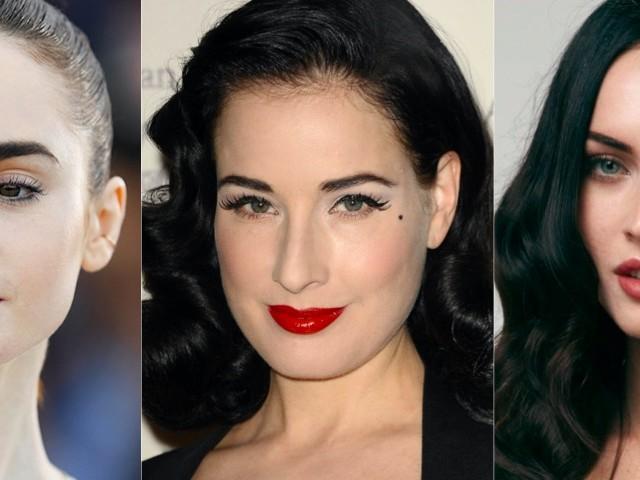 Rossetti che non valorizzano i capelli neri e la pelle chiara
