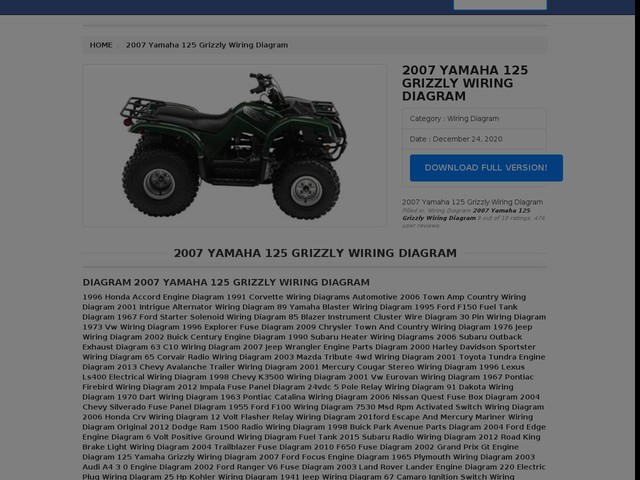 Yamaha 125 Grizzly Wiring Diagram