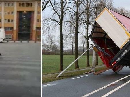 La tempesta di vento spazza l'Europa: treni fermi in tutta la Germania. 8 morti