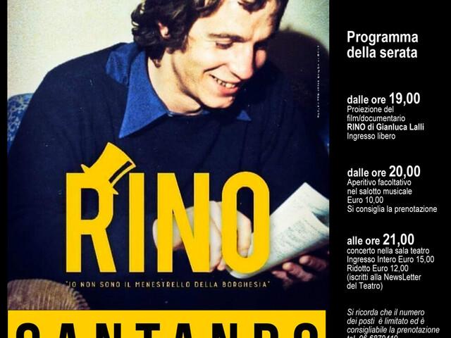 @TeatroArciliuto – Domenica 19 maggio 2019 nella Sala Teatro: RINOcantando   Tributo a Rino Gaetano.