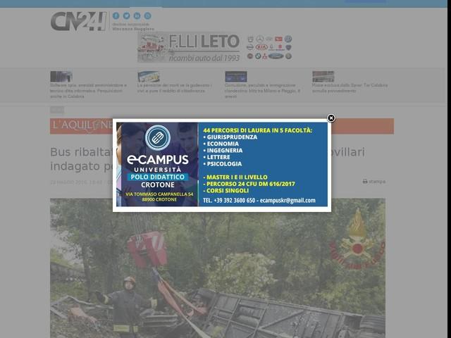Bus ribaltato sulla Firenze-Siena: autista di Castrovillari indagato per omicidio stradale