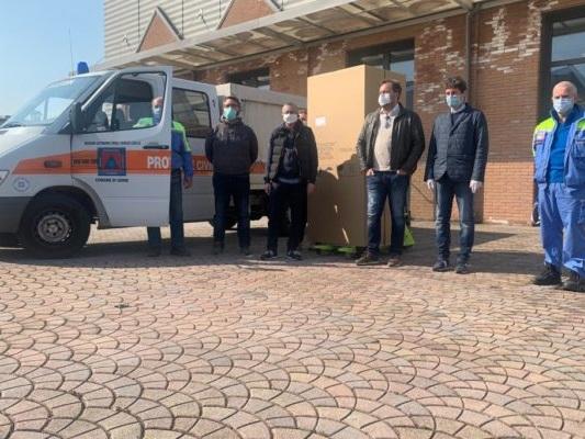Udine: frigorifero donato alla protezione civile