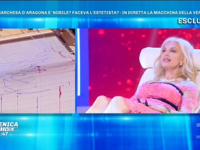 """Marchesa d'Aragona, la macchina della verità conferma: """"Non è nobile di nascita"""" (video)"""