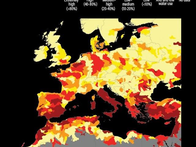 17 paesi, con un quarto della popolazione mondiale, affrontano uno stress idrico estremamente elevato