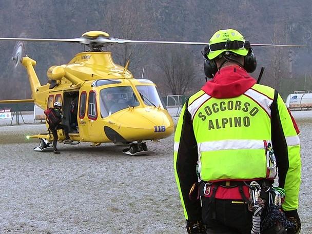 Alpinisti in difficoltà sul sentiero 4 del versante aquilano del Gran Sasso, in corso intervento del soccorso alpino