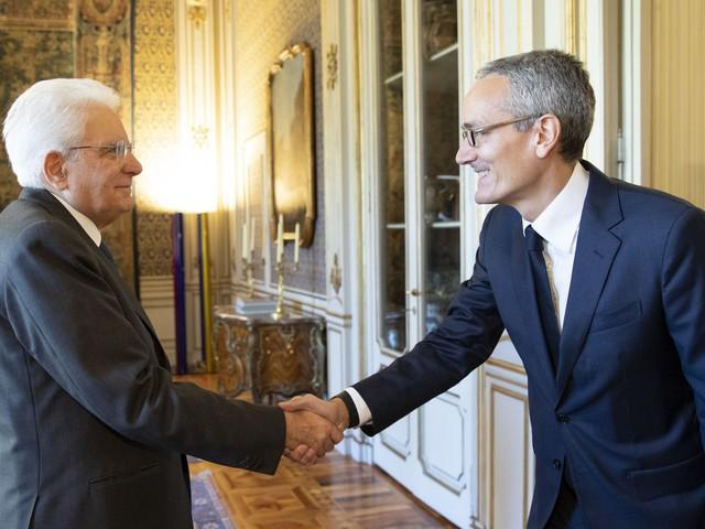 Mattarella incontra Maximo Ibarra, amministratore delegato di Sky Italia