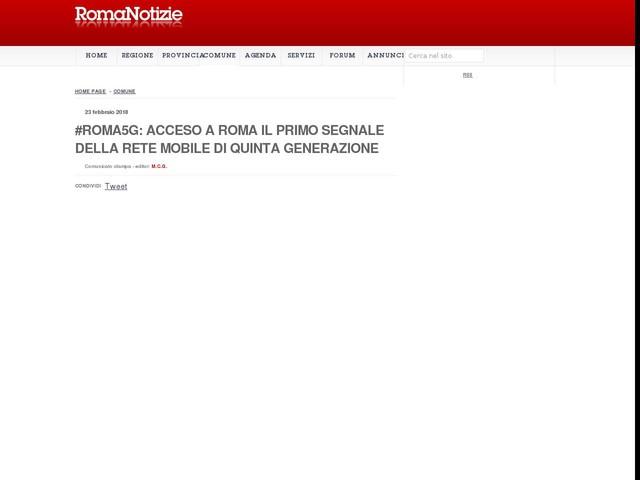 #Roma5G: acceso a Roma il primo segnale della rete mobile di quinta generazione