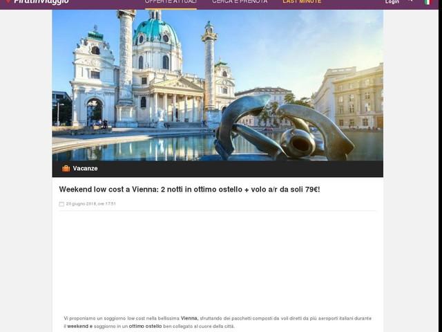 Weekend low cost a Vienna: 2 notti in ottimo ostello + volo a/r da ...