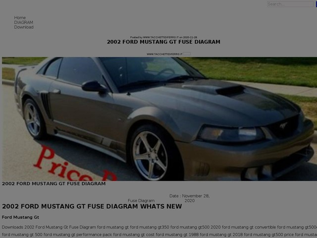 Ford Mustang Gt Fuse Diagram