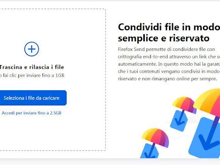 Inviare file di grandi dimensioni con Firefox fino a 2,5 Gb