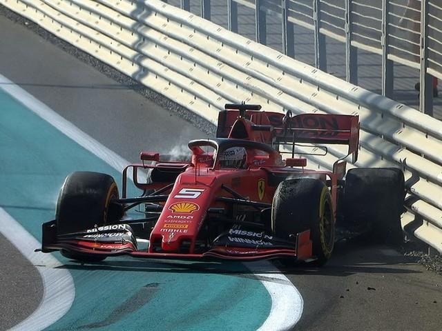 F.1, GP Abu Dhabi - Libere 1: Vettel contro le barriere