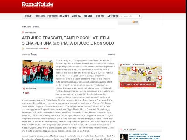Asd Judo Frascati, tanti piccoli atleti a Siena per una giornata di judo e non solo