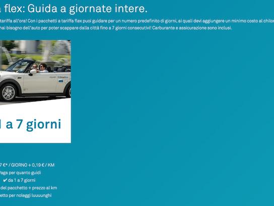 A Milano Share Now ha introdotto la possibilità di noleggiare un'auto per andare in vacanza