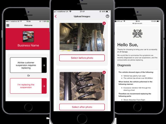 KYB presenta un'innovativa App per aiutare a spiegare quali lavori sono stati effettuati sull'auto