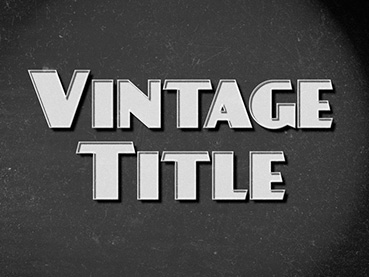 How to Create a Vintage Movie Text Effect in Adobe InDesign