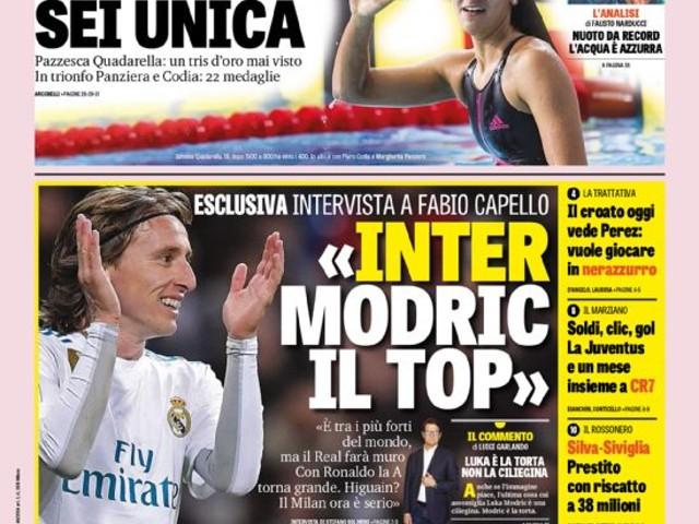 """Gazzetta dello Sport – """"Inter Modric il top"""""""