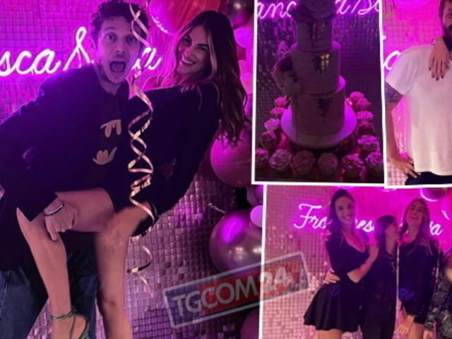 Francesca Sofia Novello incinta festeggia con il suo Dottore