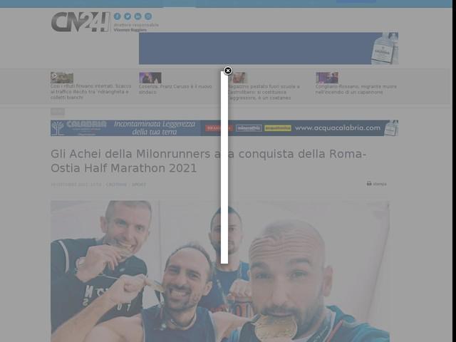 Gli Achei della Milonrunners alla conquista della Roma-Ostia Half Marathon 2021