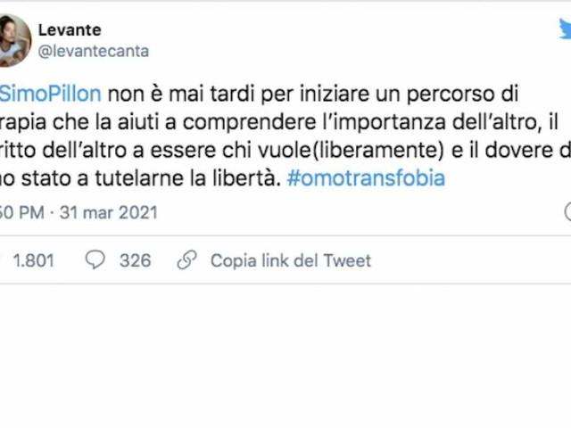 """Levante contro Pillon della Lega che vuole bloccare legge Zan contro omofobia: """"Inizi una terapia che la aiuti"""""""