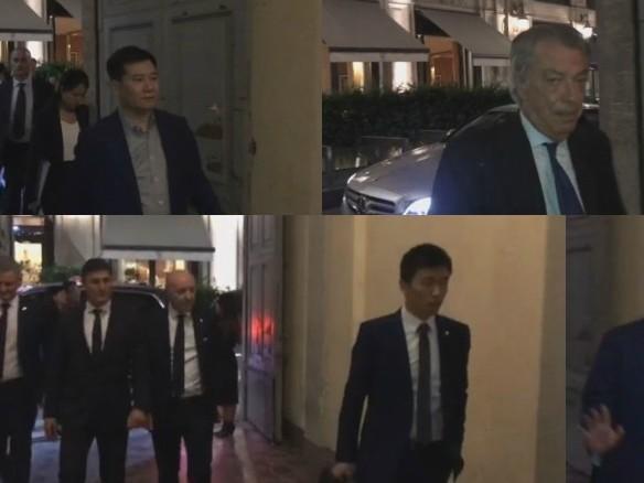 Cena Zhang-Moratti a Milano. VIDEO ESCLUSIVO