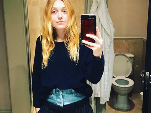 Dakota Fanning difende i suoi pantaloni su Instagram