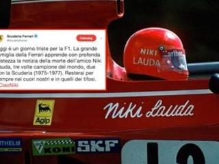 "La Ferrari: ""Niki per sempre nei nostri cuori"""