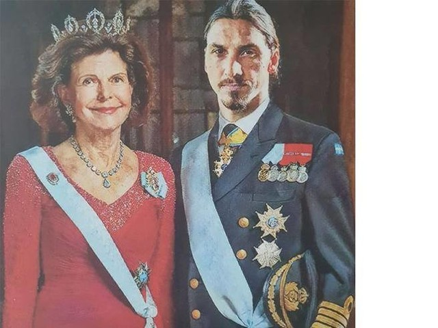Zlatan Ibrahimovic nuovo Re di Svezia (su Instagram)