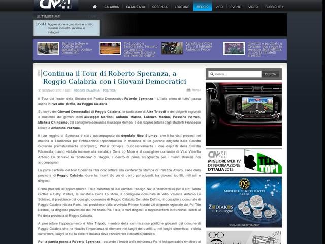 Continua il Tour di Roberto Speranza, a Reggio Calabria con i Giovani Democratici