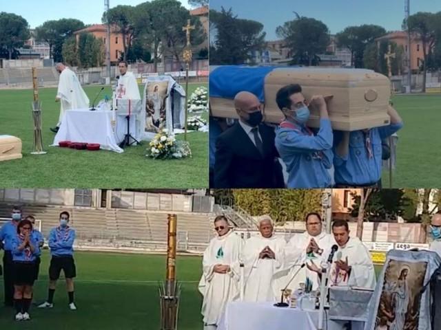 """""""Ci illuminavi con il tuo sorriso"""": in tanti allo stadio di Tolentino per l'ultimo saluto a Nicola Scisciani"""