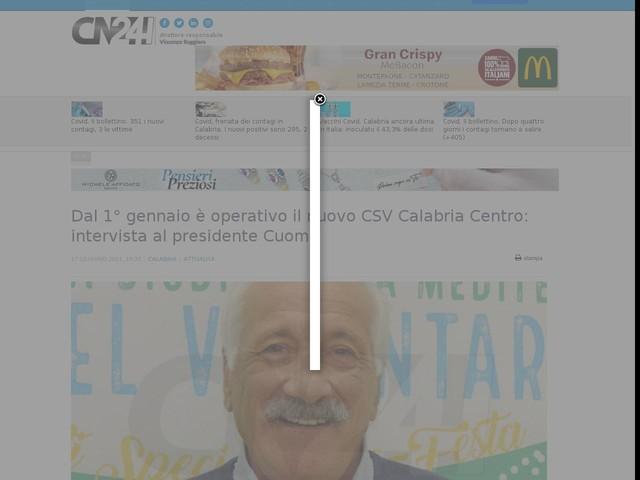 Dal 1° gennaio è operativo il nuovo CSV Calabria Centro: intervista al presidente Cuomo