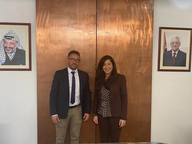 Il Comune di Aielli in visita all'Ambasciata di Palestina a Roma