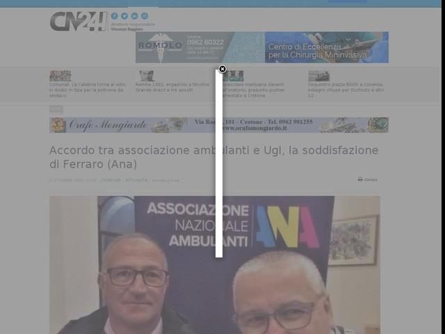Accordo tra associazione ambulanti e Ugl, la soddisfazione di Ferraro (Ana)
