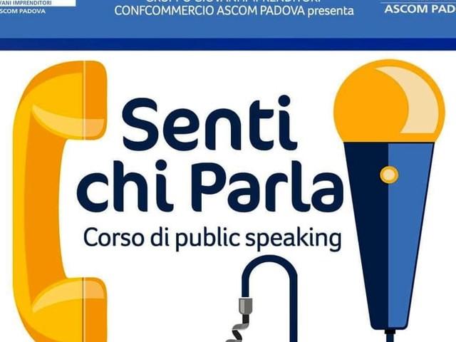 """""""Senti chi parla"""", corso di public speaking con l'Ascom di Padova"""