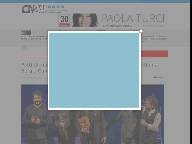 Fatti di musica: festival chiude con la standing ovation a Sergio Cammariere