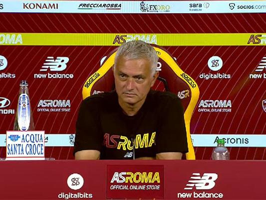 Mourinho: la conferenza stampa prima di Juventus - Roma sarà sabato alle 15.30