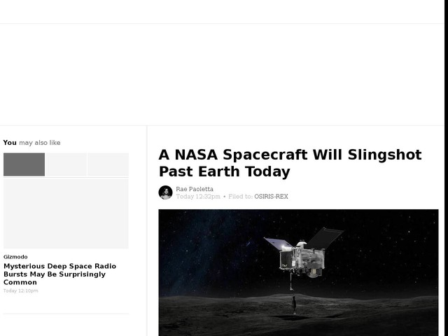 A NASA Spacecraft Will Slingshot Past Earth Today