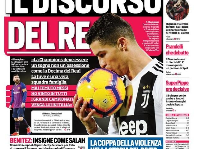 Corriere dello Sport – Icardi corre a 200 la festa è al Meazza