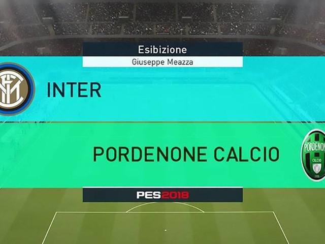 Inter-Pordenone: la Coppa Italia su PES 2018