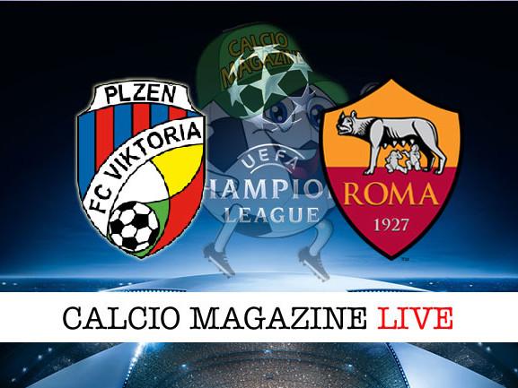 Champions League, Viktoria Plzen – Roma: il tabellino del match