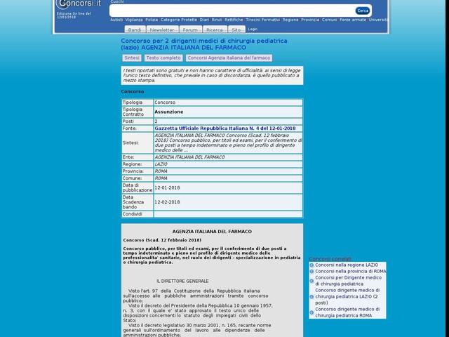 Dirigente medico di chirurgia pediatrica - ROMA - 2 posti