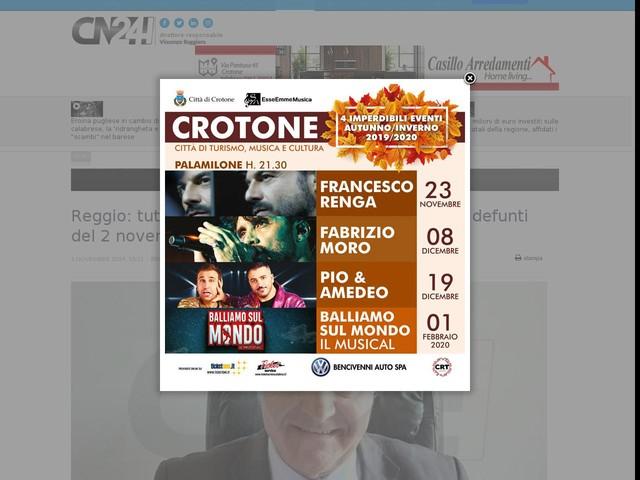 Reggio: tutto pronto per la Commemorazione dei defunti del 2 novembre
