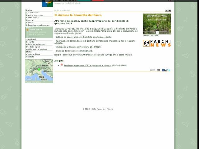 PR Mincio - Si riunisce la Comunità del Parco